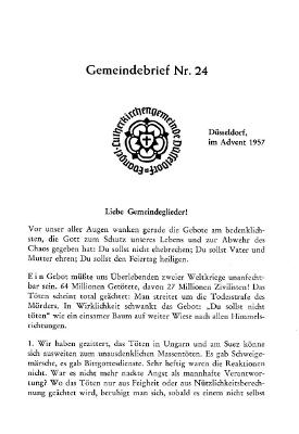 Advent 1956