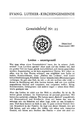 Passionszeit 1957
