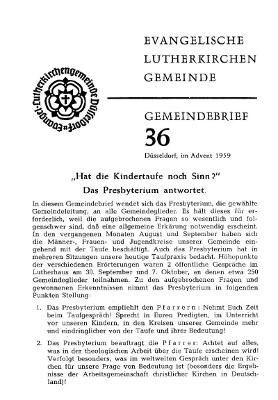 Advent 1959