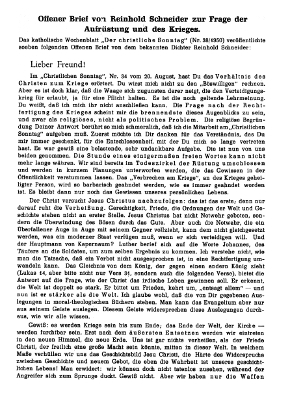Offener Brief August 1950