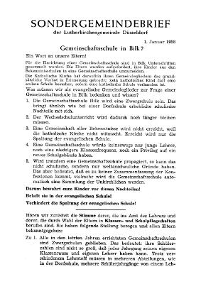 Sondergemeindebrief Januar 1958