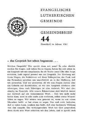 Advent 1961