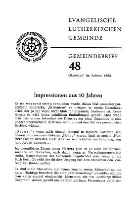 Advent 1962