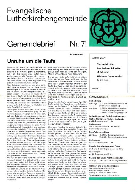 Advent 1968