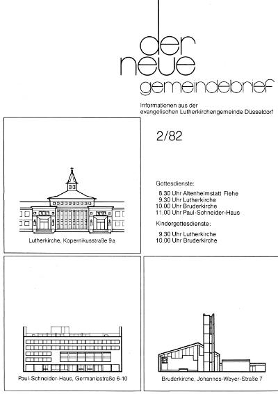 der neue Gemeindebrief 2/82