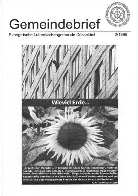 Gemeindebrief 2/1999