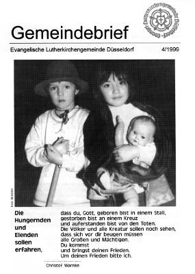 Gemeindebrief 4/1999