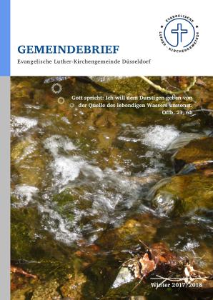 Der neue Gemeindebrief Winter 2017/2018