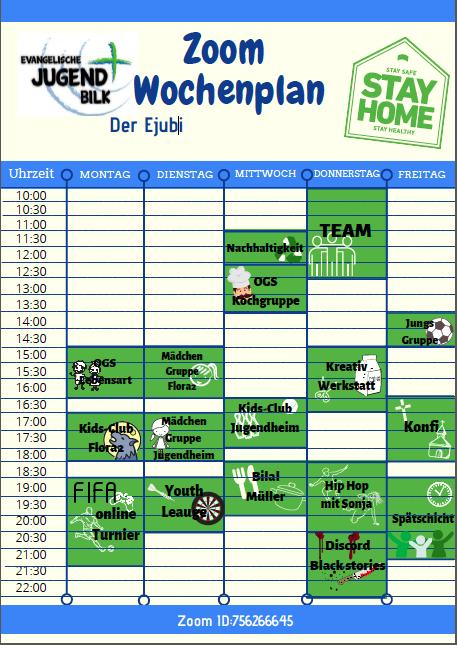EJubi Zoom Wochenplan