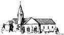 Grafik der Kirche Schmerzreiche Mutter in Flehe