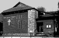 Schwarz-Weiß-Bild der Well Street Church