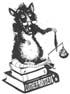 Die Lutherratte auf Büchern stehend mit der Goldwaage in der Pfote