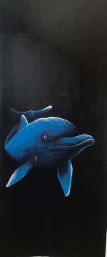 Küpper-Delfin-Acryl auf Leinwand